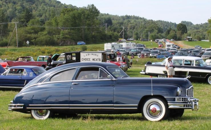 Here is the '48 Custom Super Eight Club Sedan, built on the 127