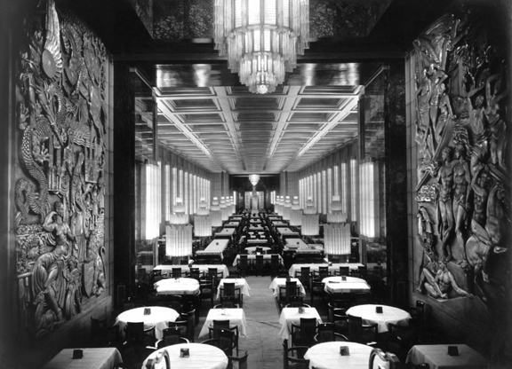 Normandie 1st class dining room