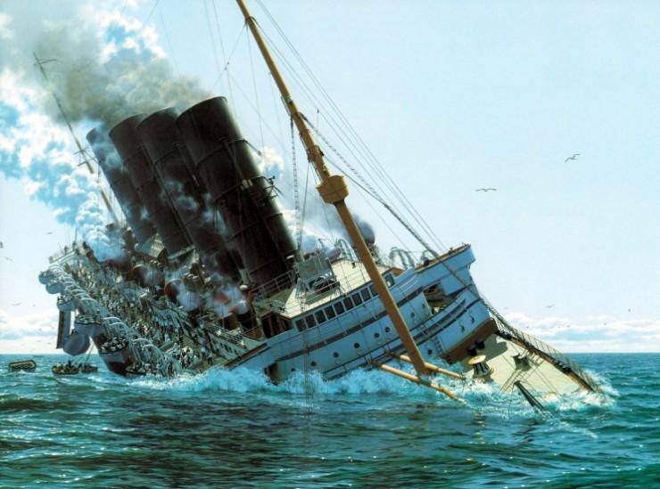 Lusitania goes under