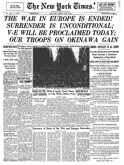 NY Times VE Day