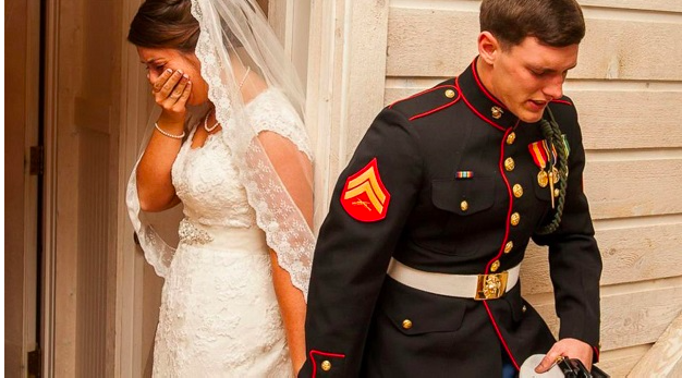 Marine & wife praying