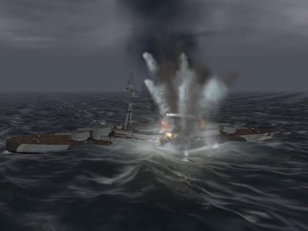 Bismarck sinking