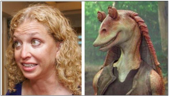 Debbie Blabbermouth Schultz Separated at Birth