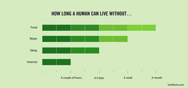 Graph of Survival w/o internet