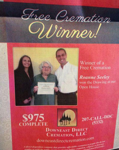 Cremation winner