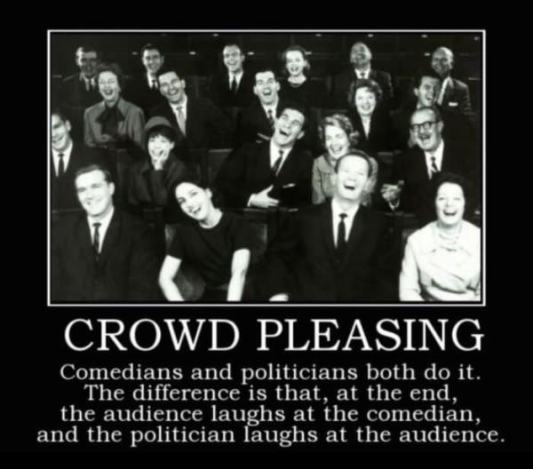 crowd pleasing