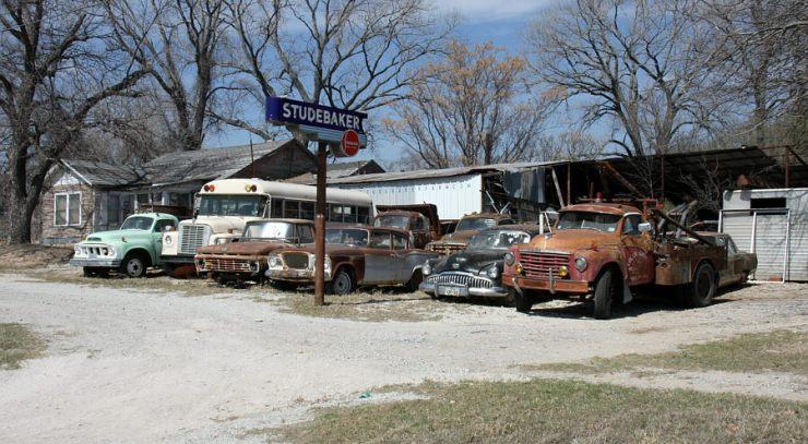 Studebaker Farm, Weatherford, Texas, John Brooks' noted source for restorable Studebaker vehicles, Studebaker parts, and Studebaker manuals.