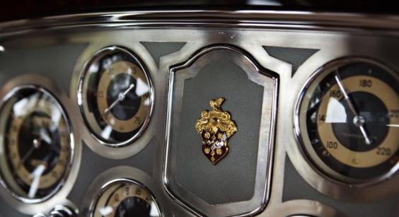 '34 Packard Twelve instrument panel