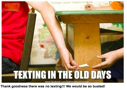 Texting in the old days