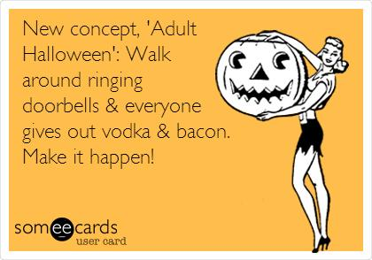 Halloween Vodka & Bacon