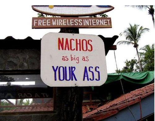 Signs, signs - nachos
