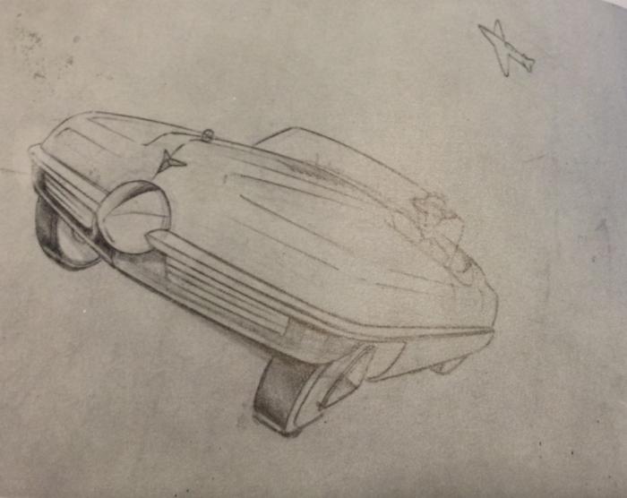 Bourke 1941 spinner nose sketch