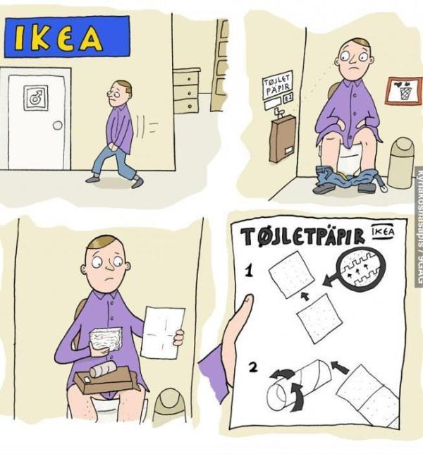 IKEA toilet paper
