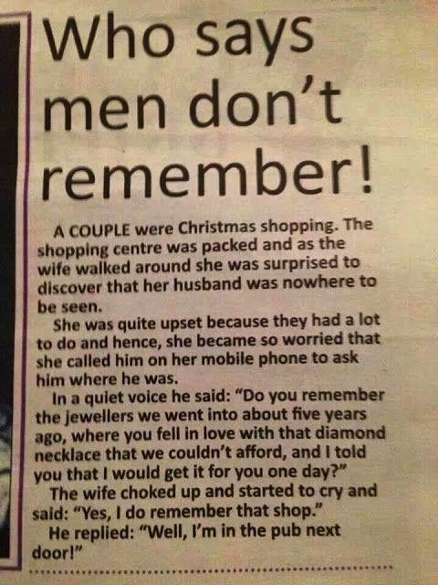 Men remember