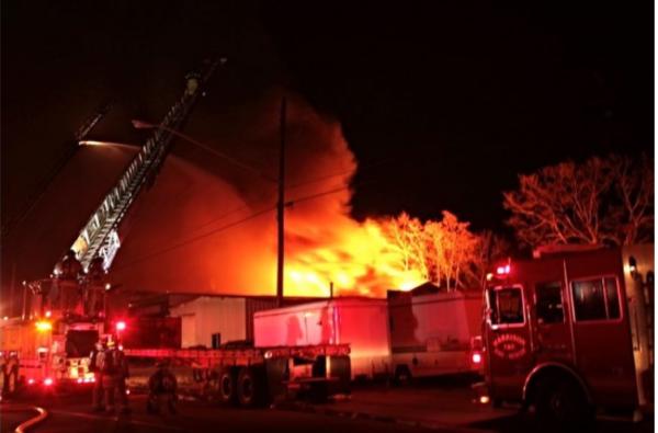 Packard Museum fire