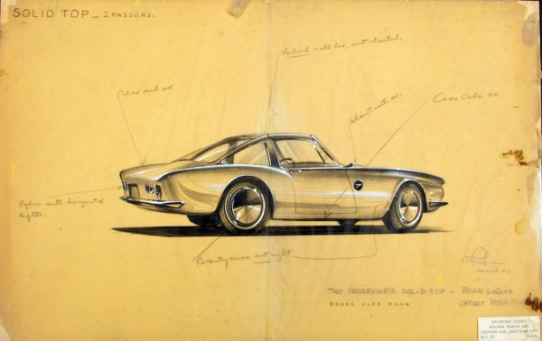 Avanti Concept Drawing March 1961