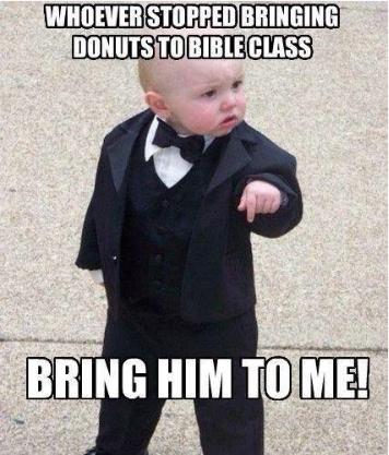donuts/bible class