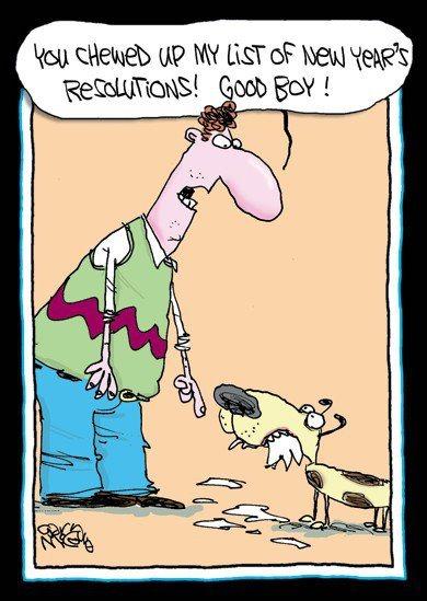 Resolutions:chewed up