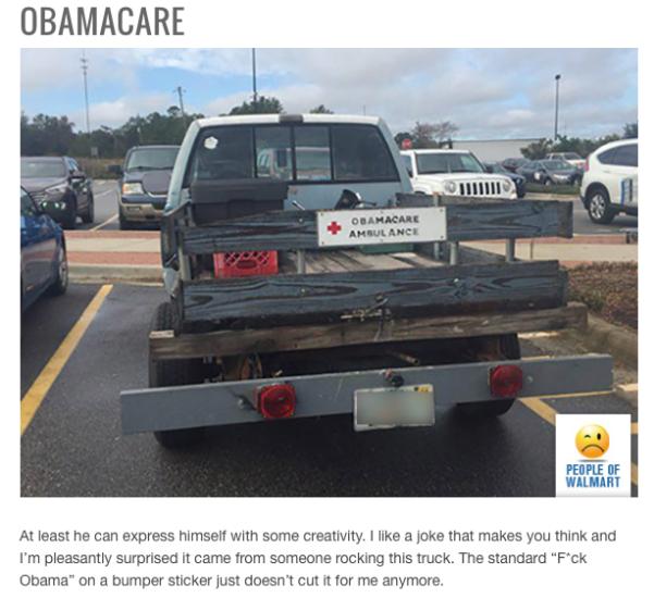 walmart car show - obamacare ambulance