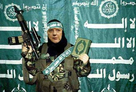 Angela Merkel Muslim Terrorist
