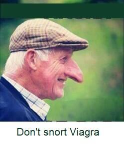 Don't snort Viagra