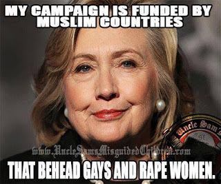Hitlery funded by muslims