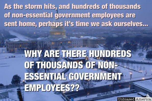 Non-essential Gov't workers