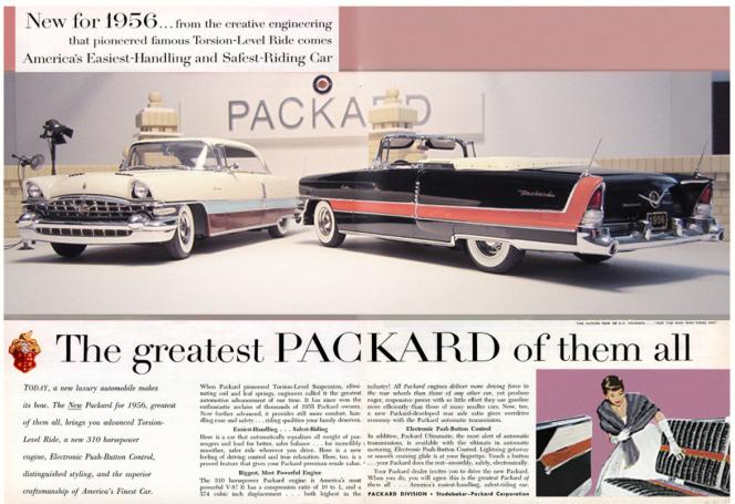 Elgin Park 56 Packard ad