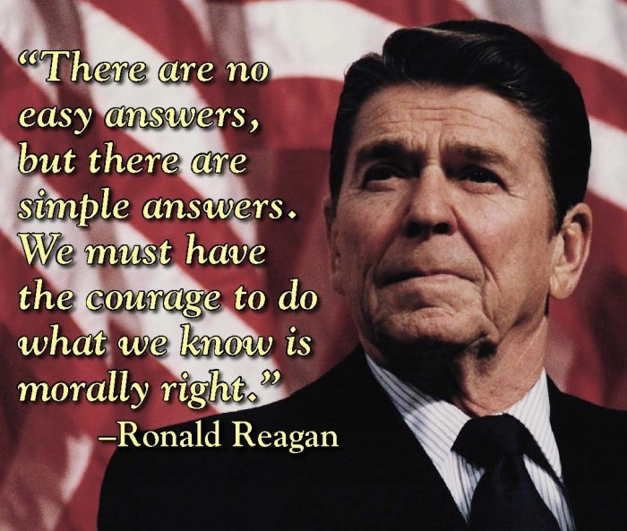 Reagan:Morally right