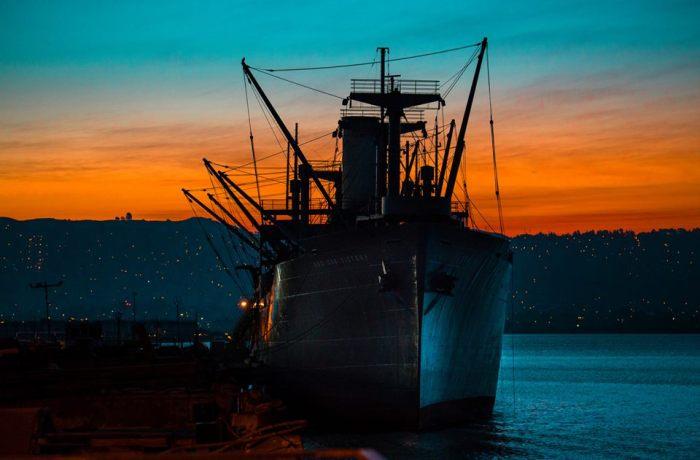 ROV at sunrise