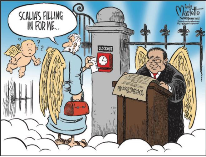 Scalia's filling in