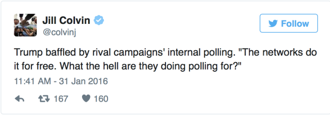 Trump:Internal polling