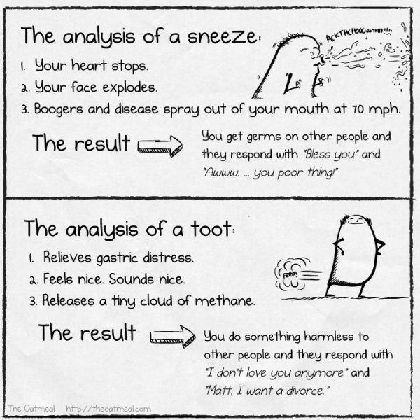 Analysis of a sneeze