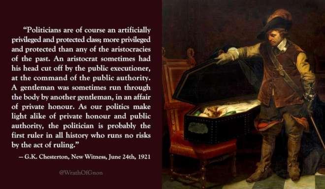 Chesterton on politicians