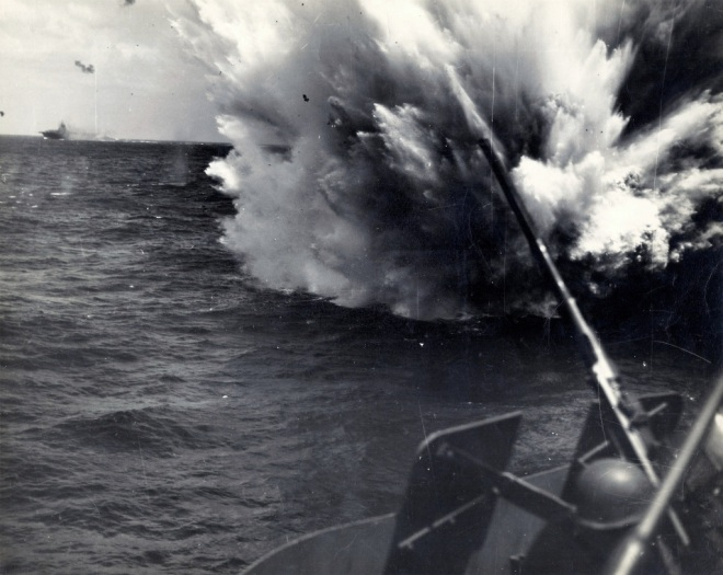 Kamikaze attack on CV12