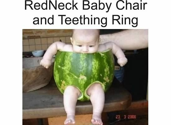 Redneck baby chair