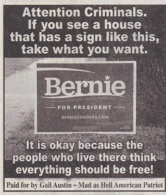Sanders:Criminals