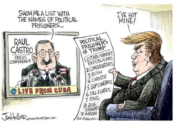 Trump:Castro political prisoners