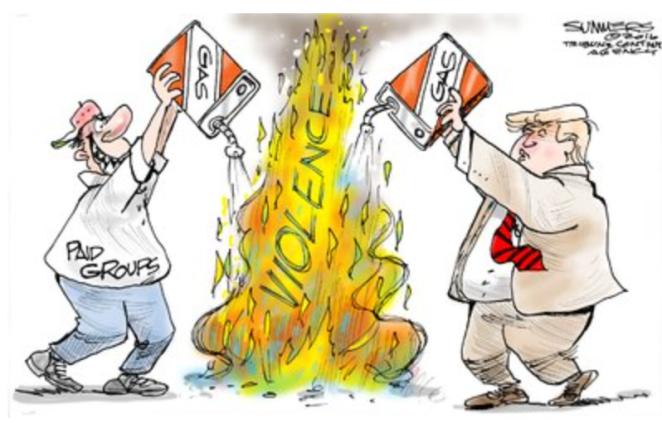 Trump:Violence