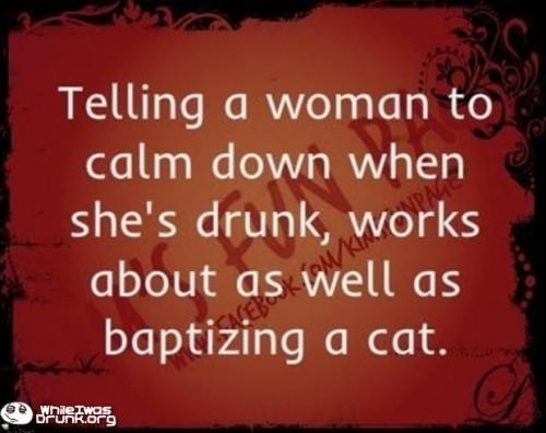 Baptizing a cat