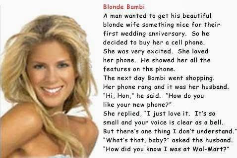 Blonde Joke du Jour