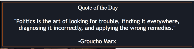 Groucho on politics