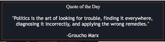 Groucho on politics