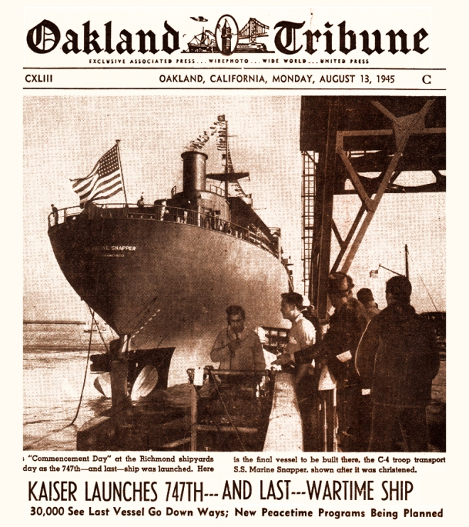 Last ship Richmond Harbor