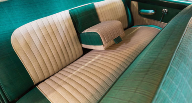 53 Kaiser Dragon Interior - rear seat