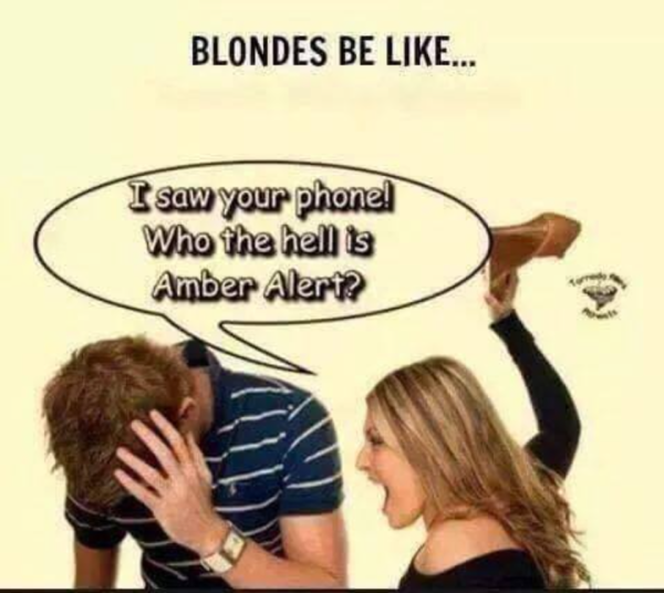 Blondes Be Like