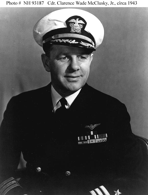 Lt. Cmdr. Wade McCluskey, Jr.