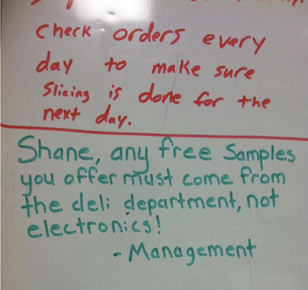 Shane-Walmart Deli Clerk