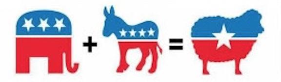 Bi-partisan sheep