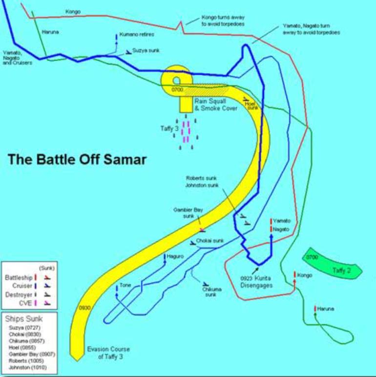 Battle of Samar_map